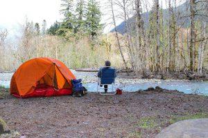 ソロキャンプの写真