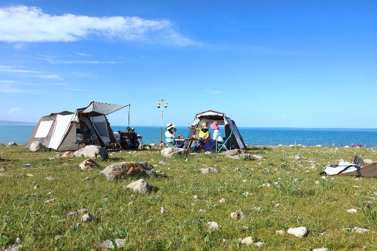 自然の中のキャンプ
