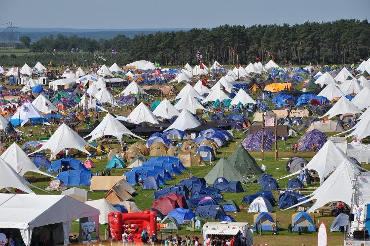 沢山のテント
