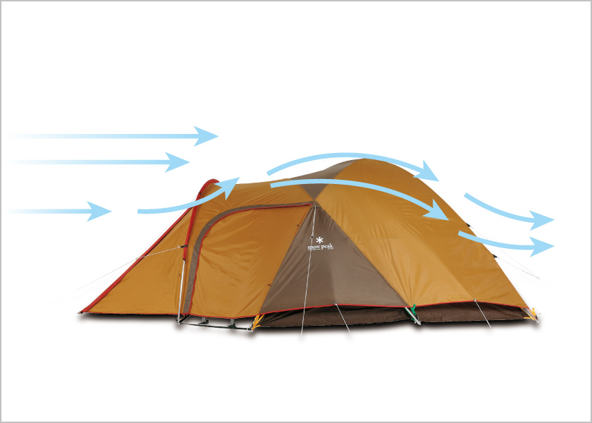 テントの風の流れの