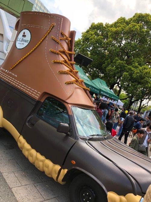 ブーツ型のデコレーションカー