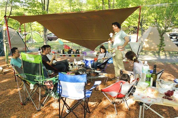 キャンプの設営状況