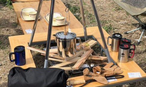 木製の囲炉裏テーブル